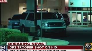 DPS Trooper shot on I-10 near Tonopah - Video
