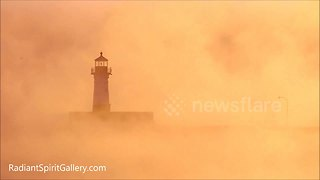 Stunning sea smoke rises off Lake Superior in brutal cold snap - Video