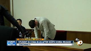 Student released from North Korea, now in coma - Video