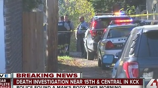 KCK police investigate suspicious death after body found on driveway - Video