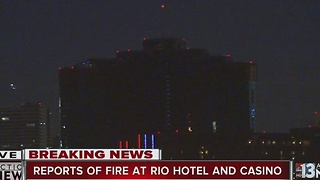 Crews respond to fire at Rio hotel-casino - Video