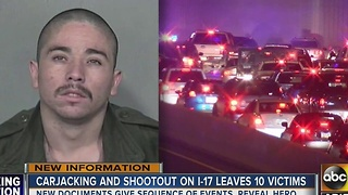 10 victims during I-17 carjacking, shootout - Video