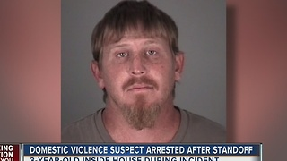 Domestic violence suspect arrested after standoff - Video