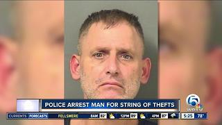 Suspected charged in thefts from Indian River to Palm Beach counties - Video