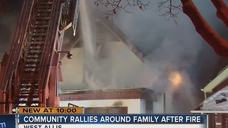 West Allis rallies to help family devastated by fire - Video