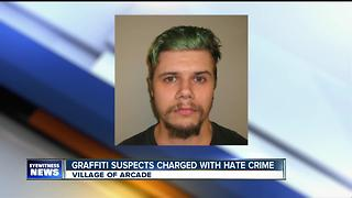 Vandalism in Arcade leads to hate crime charges - Video