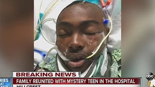Family reunited with teen in the hospital - Video