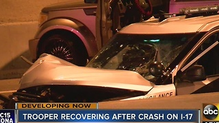 DPS Trooper recovering after crash on I-17 - Video