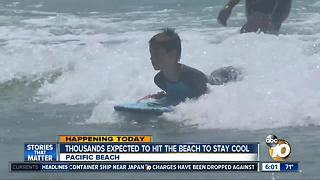 Thousands expected to head to San Diego beaches to stay cool - Video