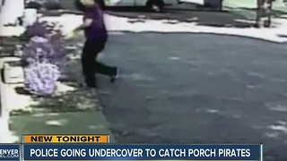 Police going undercover to catch porch pirates - Video
