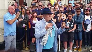 Sir Ian McKellen's speech before Greenwich' 'Love Gates' at Pride - Video