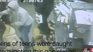 VIDEO: Crazy flash mob robbery in Connecticut caught on camera - Video