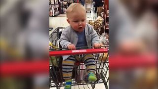 Shopping Makes Baby Happy Enough For A Jiggly Dance - Video
