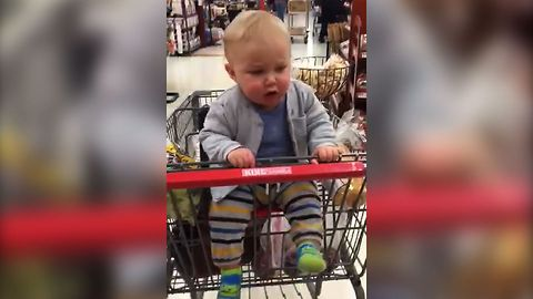 Shopping Makes Baby Happy Enough For A Jiggly Dance