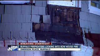 Buffalo firefighters investigating overnight fire in a 14-unit apartment building - Video