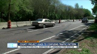 Linebaugh construction confusing drivers - Video