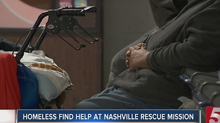 Homeless Seek Shelter During Cold Temperatures