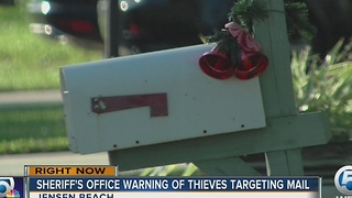Sheriff's Office warning of thieves targeting mail