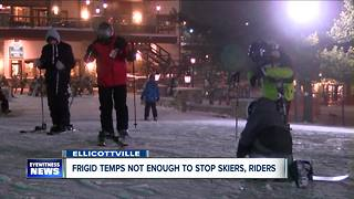 Cold won't stop skiers from hitting the slopes - Video