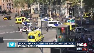 Florida family caught in Barcelona attack - Video