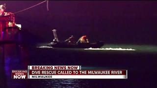 Dive team called to Milwaukee River - Video