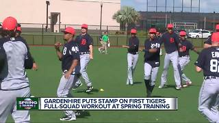 Gardenhire puts a stamp on first Tigers full-squad workout at spring training