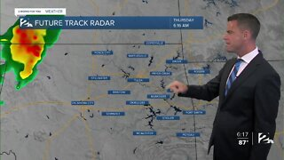Isolated Storms Thursday
