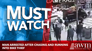 Man Arrested After Chasing And Running Into Bike Thief