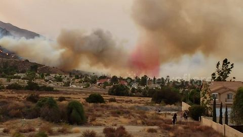 "Thousands evacuated from path of ""Holy Fire"" in California"