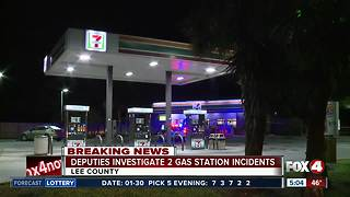 Lee County Deputies investigating two incidents at gas stations - Video
