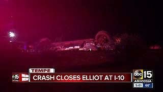 Driver seriously hurt in Tempe crash - Video