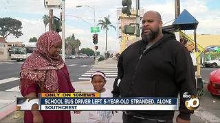 School bus driver left 5-year-old stranded, alone