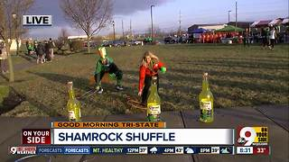 Try this obstacle course (with a beer) at Shamrock Shuffle - Video