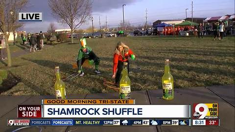 Try this obstacle course (with a beer) at Shamrock Shuffle