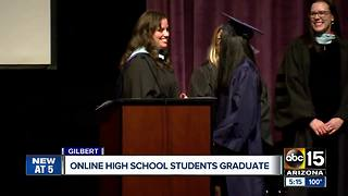 Online high school students graduate in Gilbert
