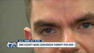 Conversion therapy for children banned in Erie County - Video