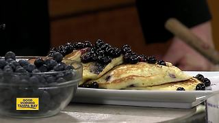 Having fun on National Blueberry Pancake Day - Video