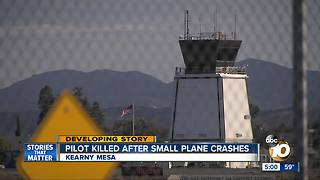 Pilot killed after small plane crashes