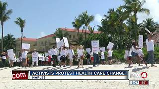 HIV/AIDS activists protest at Governor's house - Video