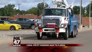 Michigan utilities send crews to assist amid Hurricane Irma - Video