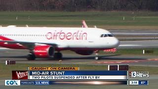 Air Berlin flight pilots buzz tower - Video