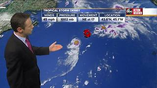 Tropical Storm Debby Update | Tracking the Tropics - Video