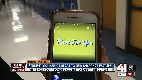 'Here For You' provides access to mental health resources on Snapchat