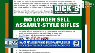 Top CEO Goes All-In On Gun Control... Major Retailer Refuses Sales Of AR-15s