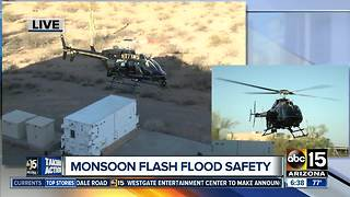 Crews demonstrate aerial rescue ahead of monsoon - Video