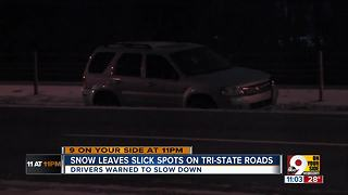 Erlanger PD warns drivers should 'stay off roads' due to slippery conditions - Video