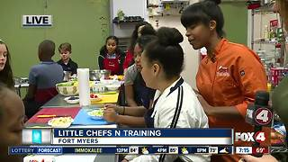 Kids get creative at Little Chefs N Training - 7am live report