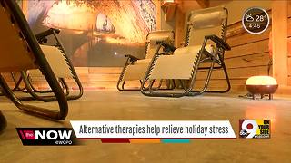 Alternative therapies help relieve holiday stress - Video