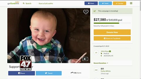 GoFundMe for two-year-old who was shot