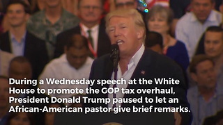 Trump Turns and Asks Pastor to Speak at White House – Pastor's First Words Couldn't Be More Perfect - Video